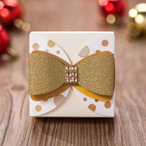 Gold bow favor