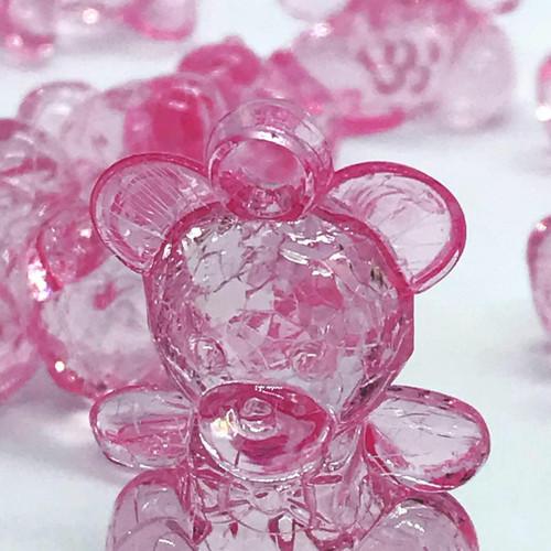 Clear Acrylic Charm Bear Baby Shower Favor