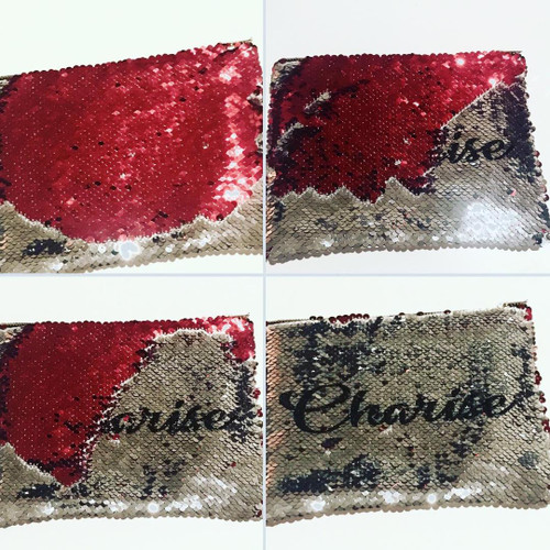 Personalized Sequins Make up bag