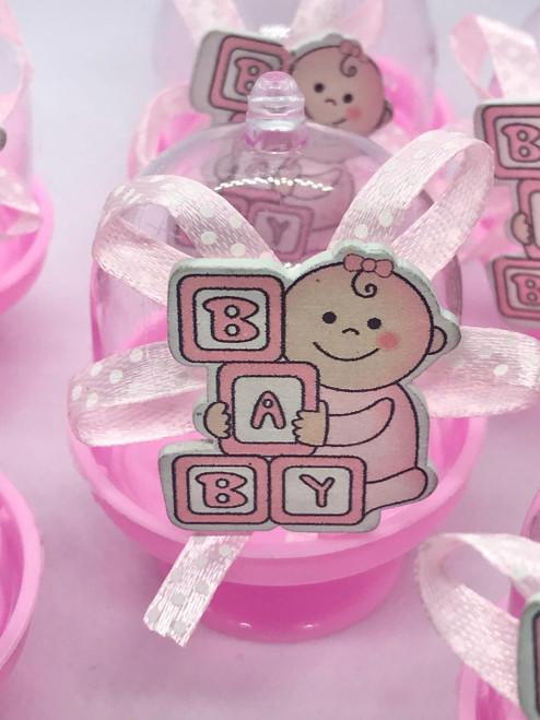 Mini Pink Baby Shower cake stand