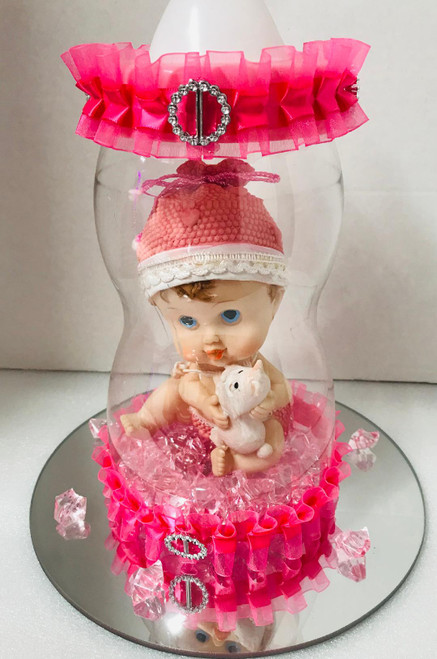 Baby Bottle Centerpiece
