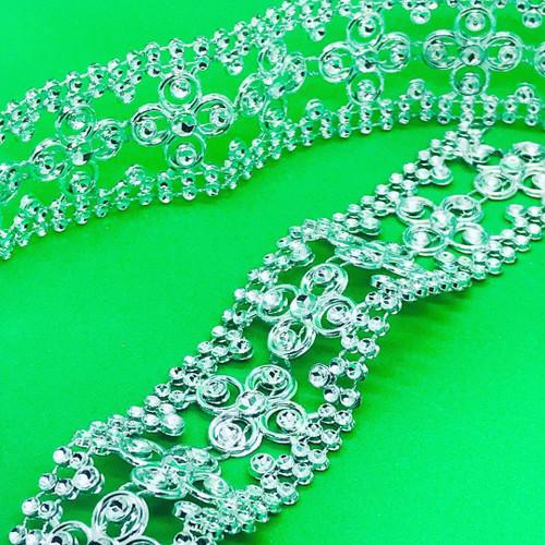 Silver Mesh Ribbon