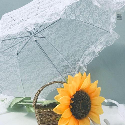 White Parasol Lace Umbrella