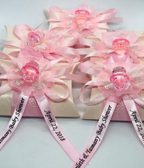 Personalized Pink Pillow Party Favor