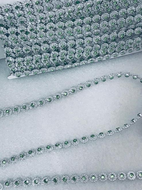 Emerald Silver Ribbon Accessories