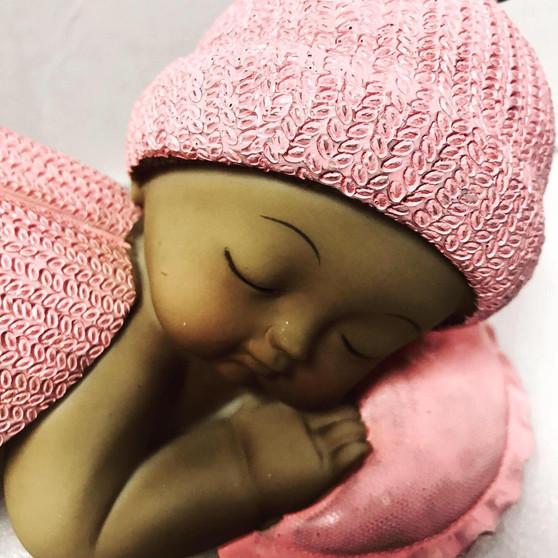Pink Baby Shower Beetle Centerpiece