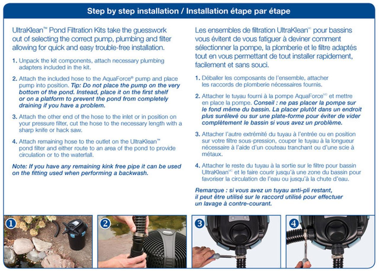 Faire Une Cascade Sans Pompe aquascape ultraklean 1500 filtration kit - up to 1500 gal.
