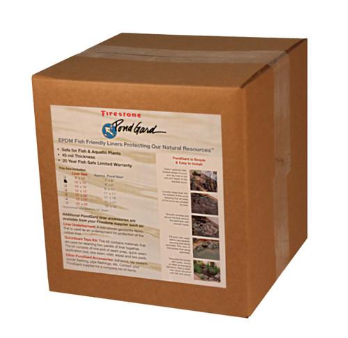 Firestone EPDM Pond Liner - Boxed 8 x 10 ft. (45 mil.)