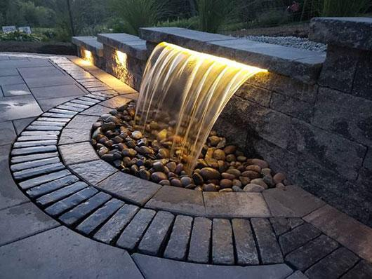 Adding Formal Spillway to Your Hardscape