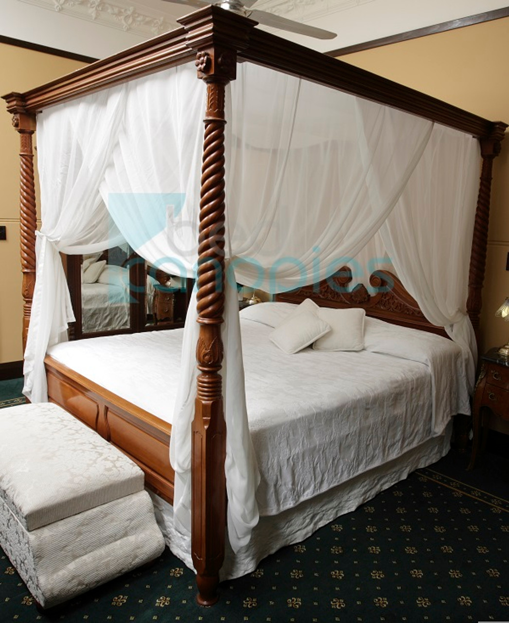- Canopy Bed Curtain - Queen Canopy Curtains