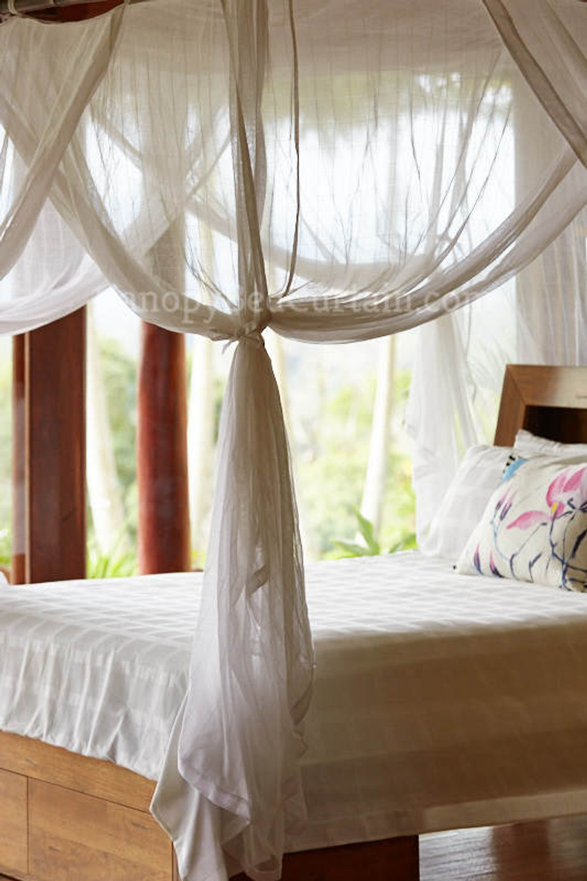 Canopy Bed Curtain. Cotton. King/California King