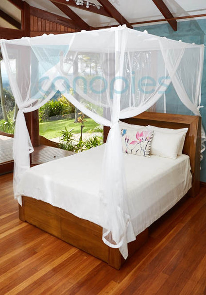 Bed Canopy suspended using curtain rod