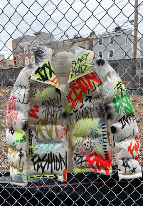 GRAFFITI DREAMS PUFFER JACKET