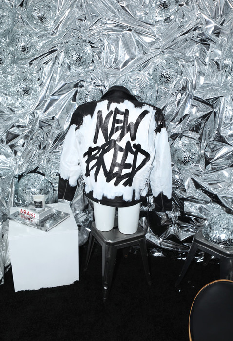 NEW BREED B & W MOTO JACKET