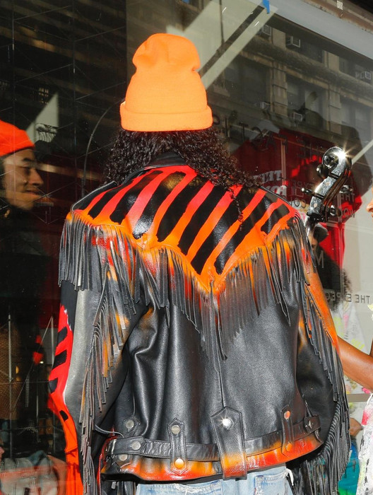 CAUTION FRINGED MOTO JACKET