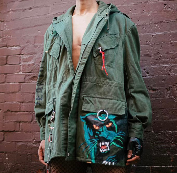 Keep that Fire oversized parka