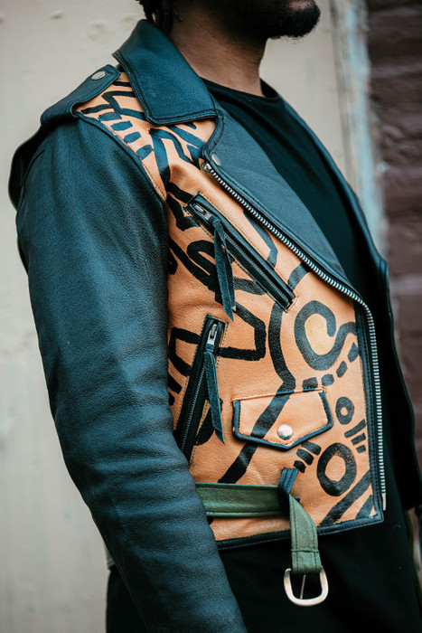 """Tribal"" moto jacket"