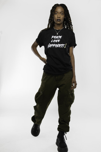 Drippy exclamation logo tee