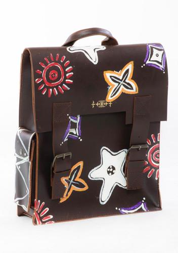 "Jeantrix x Saija ""tribal""  backpack"