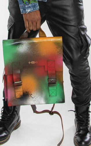 """Jeantrix x Saija """"graffiti bomb"""" backpack"""