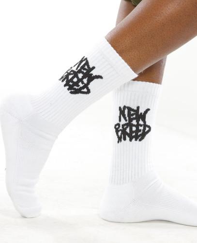 new breed white socks