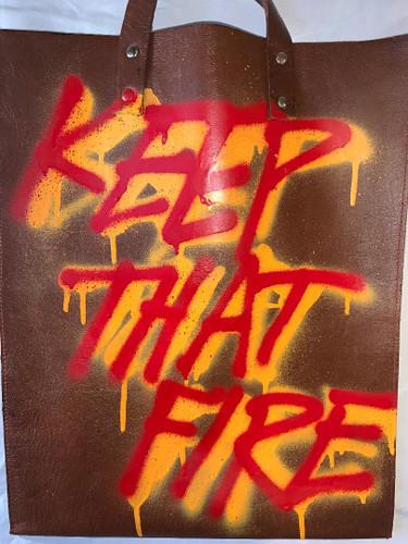 """jeantrix x saija """"keep that fire"""" tote"""