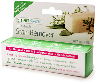 The SmartKlean Natural Stain Remover Stick works best with a natural laundry detergent in preventing skin irritations like eczema.
