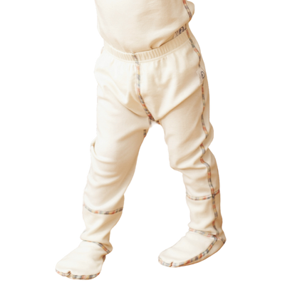Cotton footed pajama pants for toddler and up. Flat seams and tag-less.
