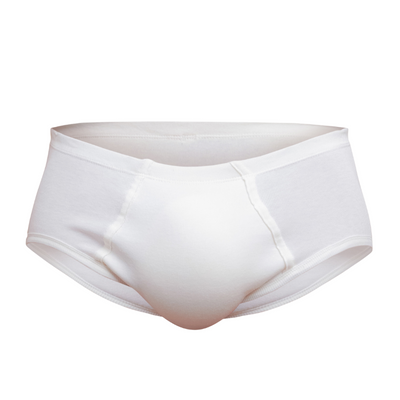 Men's Hipster Brief - Latex Free - 100% Organic Cotton- 2 Pack