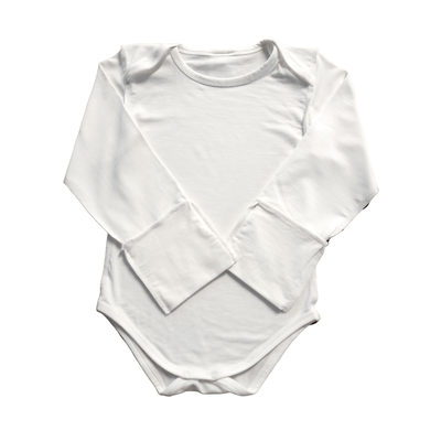 Long Sleeve Baby Eczema Onesie with Fold Over Mittens