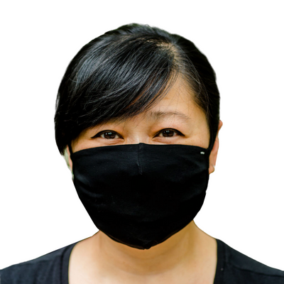 A reusable face mask you can wash in hot water and wear again and again.