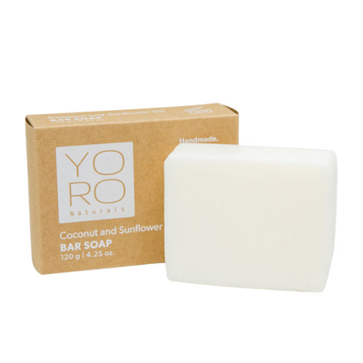 This sunflower oil soap bar by YoRo Naturals will nourish, not strip the skin.