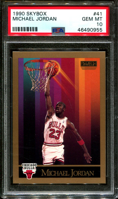 1990 SKYBOX #41 MICHAEL JORDAN BULLS HOF PSA 10 BULK BUYS LOT OF 20