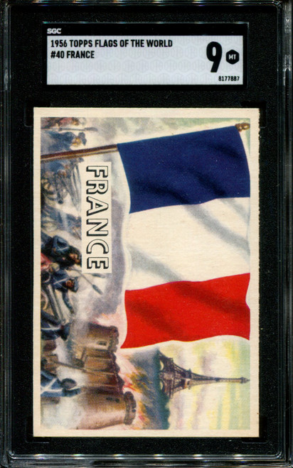 1956 TOPPS FLAGS OF THE WORLD #40 FRANCE SGC 9 N1010028-887