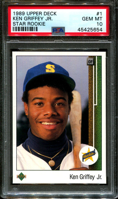 1989 UPPER DECK STAR ROOKIE #1 KEN GRIFFEY JR. RC PSA 10 BULK BUYS LOT OF 5