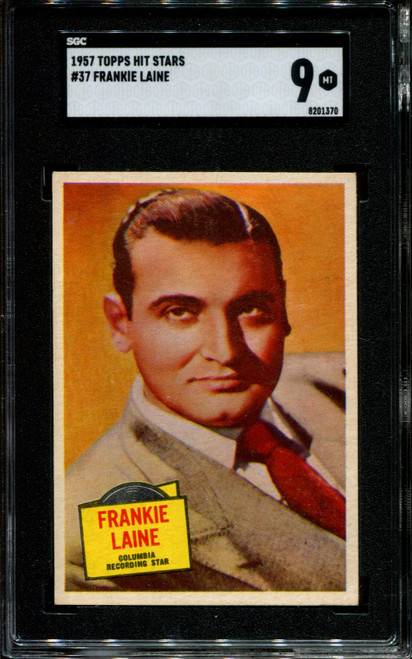 1957 TOPPS HIT STARS #37 FRANKIE LAINE SGC 9 N1010273-370
