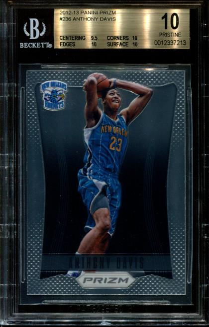 2012 PANINI PRIZM #236 ANTHONY DAVIS RC HORNETS BGS 10 K1010795-213
