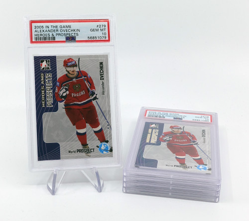 2005 ITG HEROES & PROSPECTS #279 ALEXANDER OVECHKIN RC PSA 10 BULK BUYS LOT OF 5
