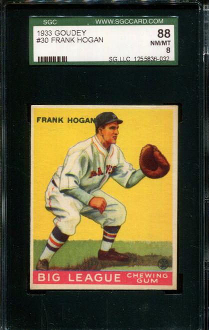1933 GOUDEY #30 FRANK HOGAN SGC 88 B1005984-032