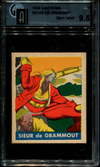 1948 LEAF CUM CO. PIRATES #16 SIEUR DE GRAMMOT GAI 9.5 N1003969-930