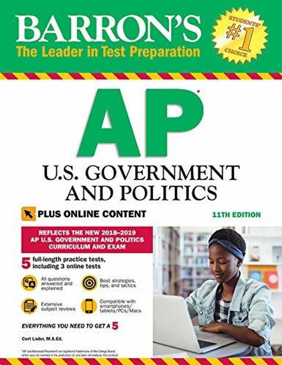 Barron's Ap U.s. Government and Politics: With Bonus Online Tests