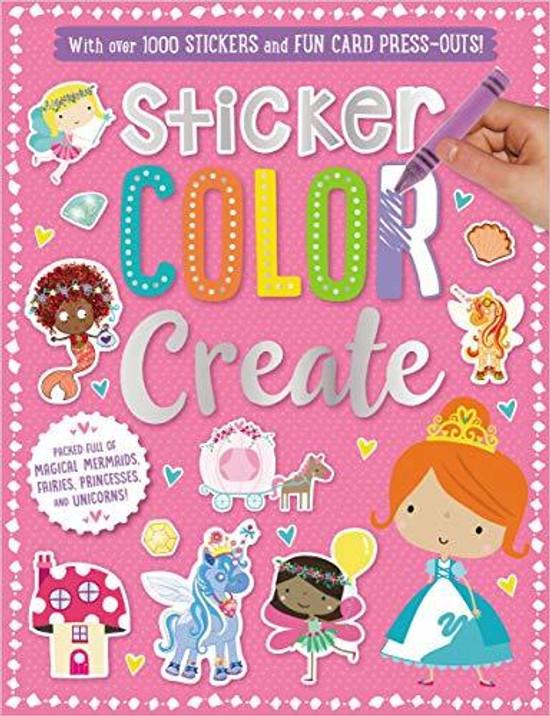 Sticker Activity Books Sticker, Color, Create