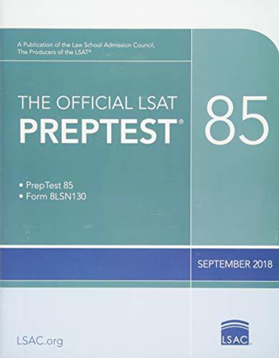 The Official Lsat Preptest: Sept. 2018 Lsat