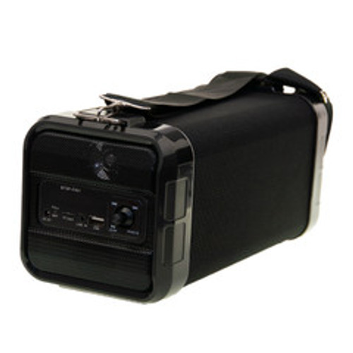 Portable Bluetooth Speaker with AUX input, USB,  and Micro SD card port. 4 inch woofer. Black