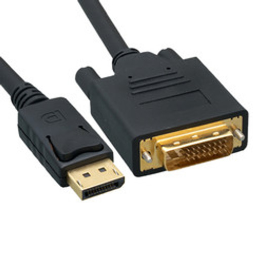 DisplayPort to DVI Video Cable, DisplayPort Male to DVI Male, 6 foot