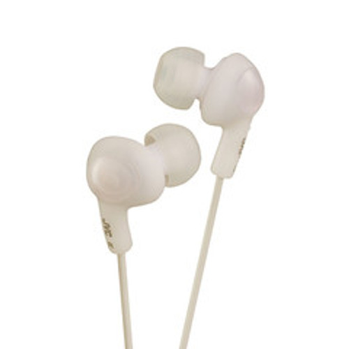 JVC Gumy Plus Inner-Ear Earbuds, White
