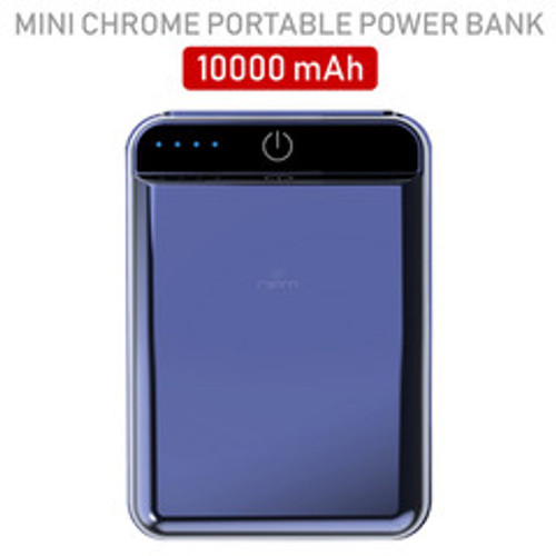 2 port Power bank 10000 mAh USB Battery Backup, includes Micro USB cable, Gray.
