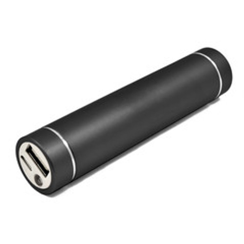 3000 mAh USB power bank, 1 Amp charge rate, 1 port, with flashlight. Includes micro USB cable.