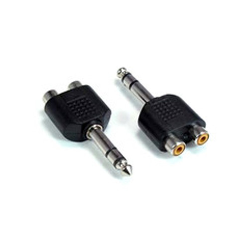 1/4 Inch Stereo Male to Dual RCA (Stereo) Female Adapter