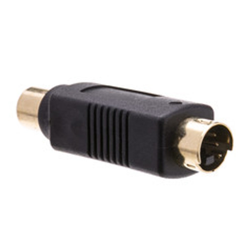 S Video to RCA Adapter, S-Video (MiniDin4) Male to RCA Female